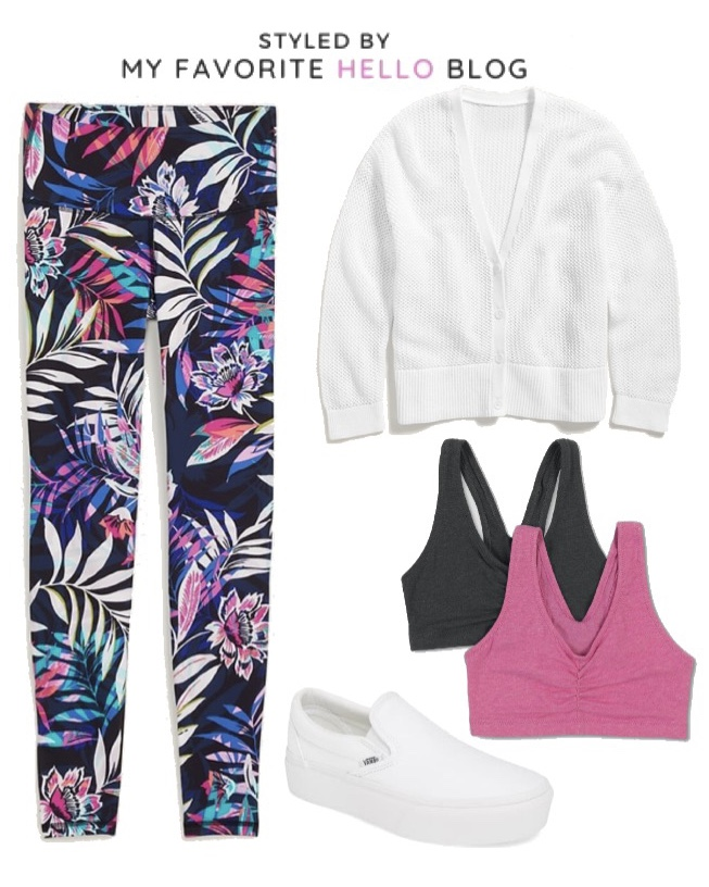 How to Style Printed Leggings for Summer. Style a casual summer outfit with leggings #leggings