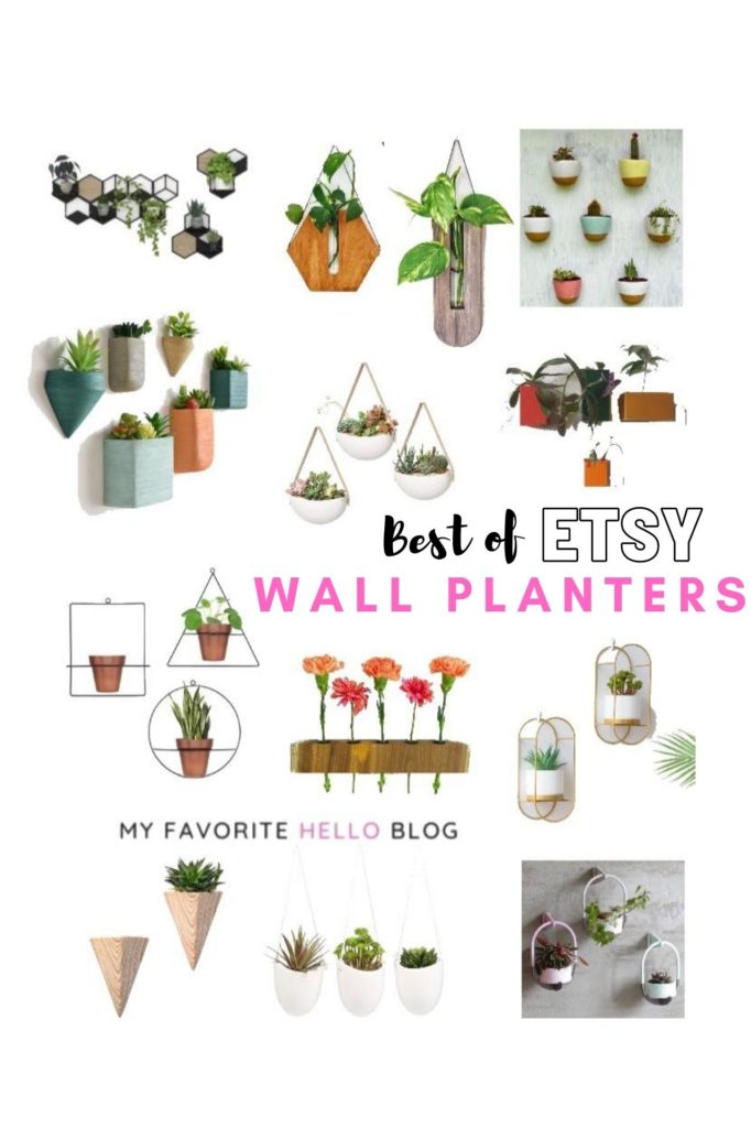 Best of Etsy wall planters