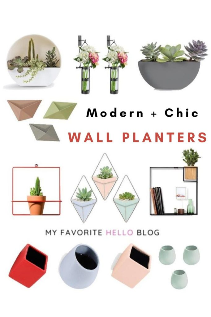 Modern and chic wall planters