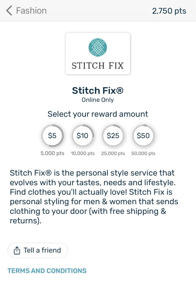 Earn free Stitch Fix giftcards