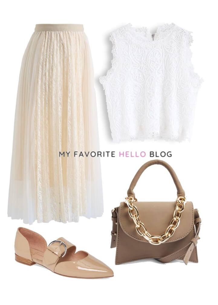 long Tulle skirt outfit casual