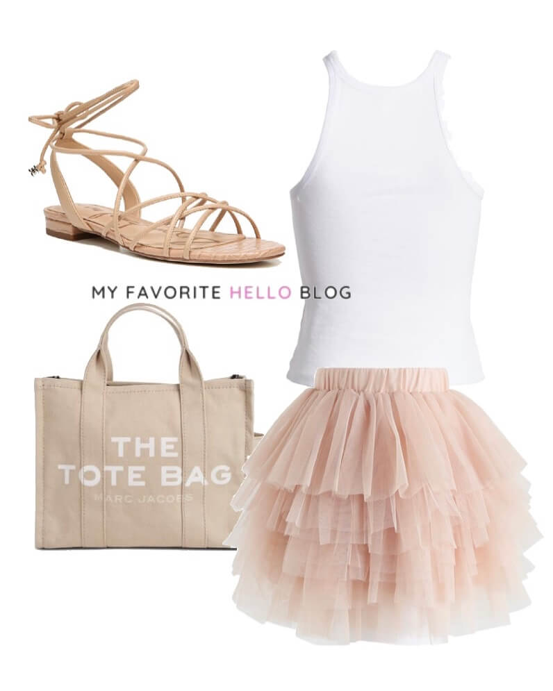 Tulle skirt outfit summer