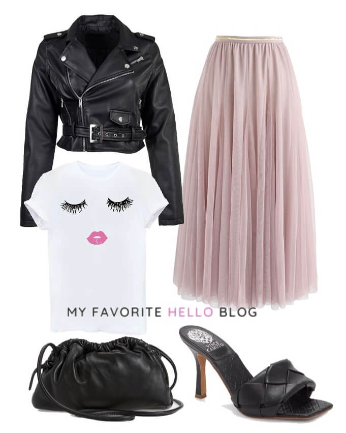 Tulle skirt outfit edgy