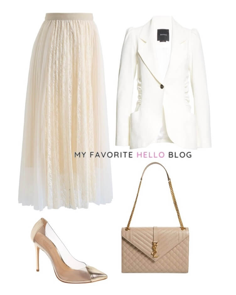 Tulle skirt outfit work