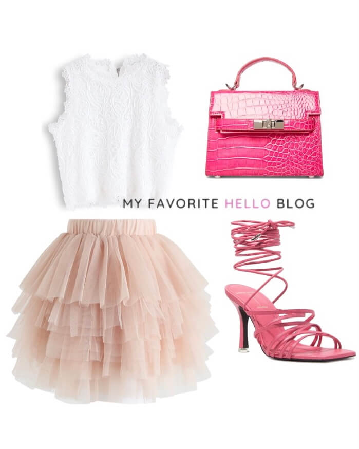 Tulle skirt girls night out