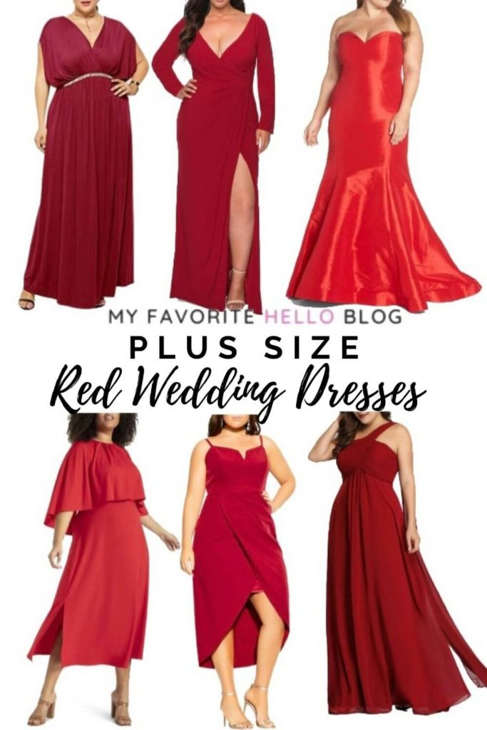 plus size dresses in red