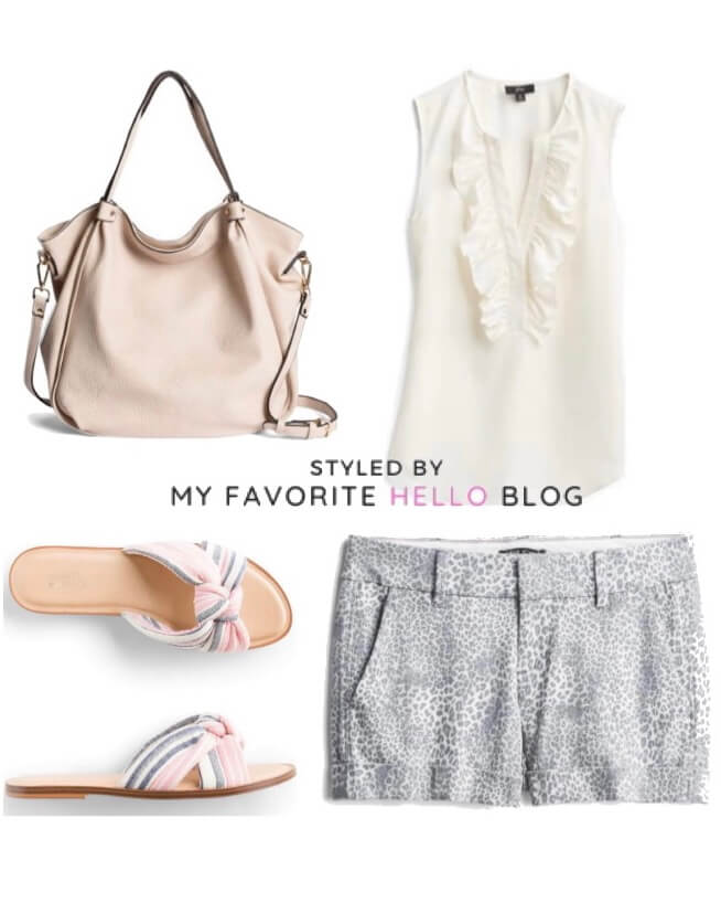 Stitch Fix summer outfit with printed shorts