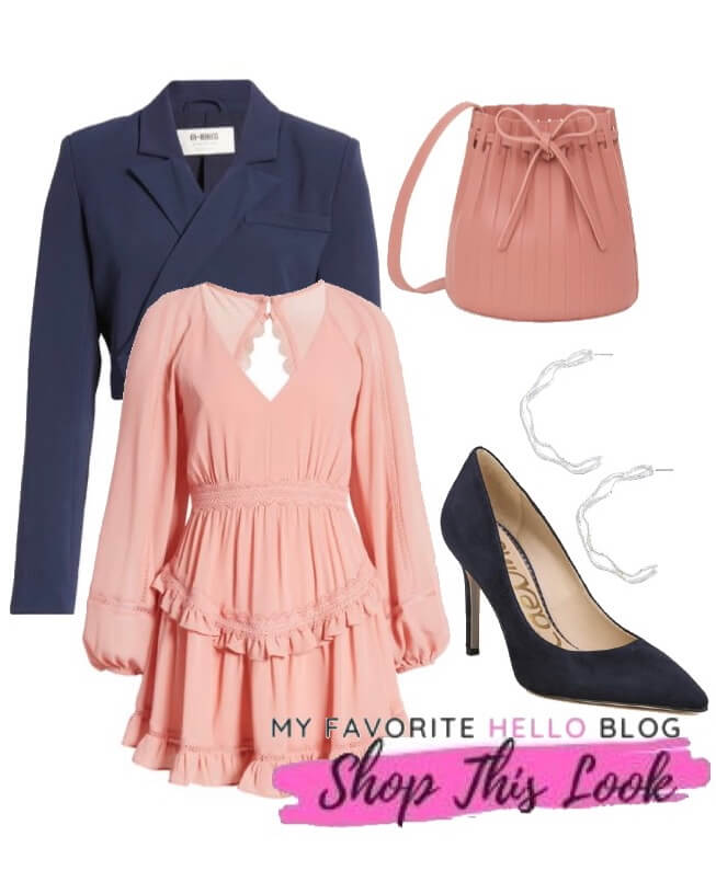 navy shoes with blush dress