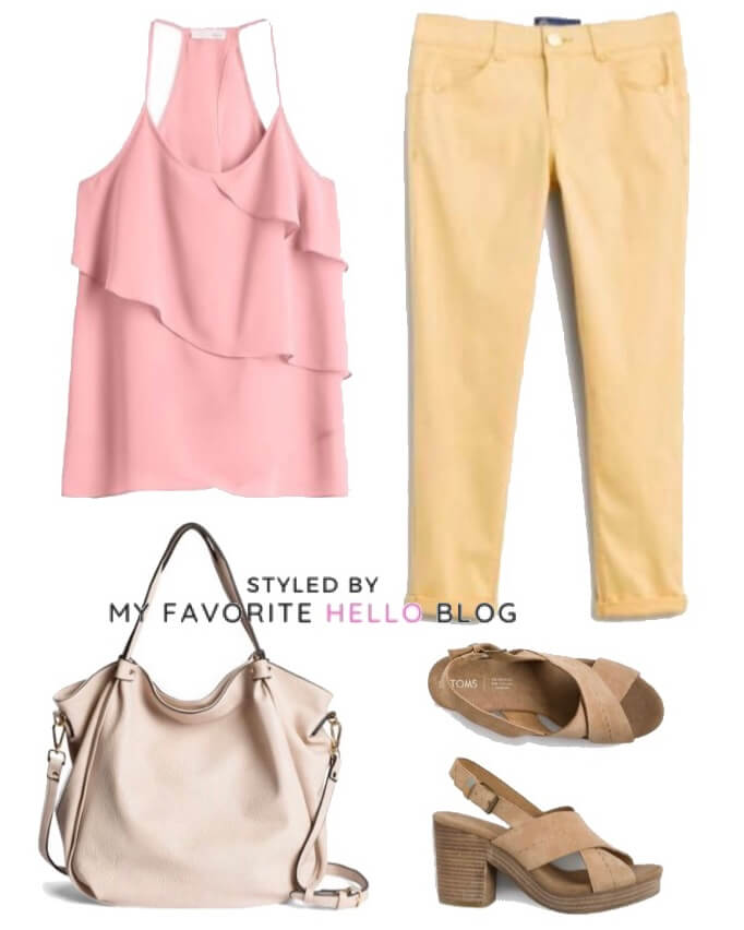 stitch fix summer outfit with colored pants