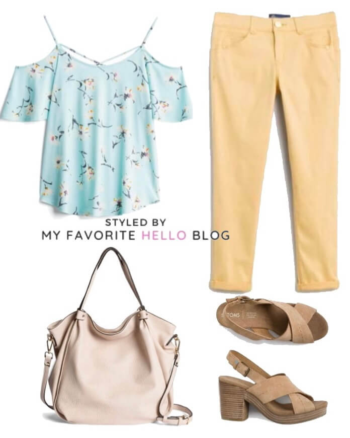 stitch fix summer outfit with platforms