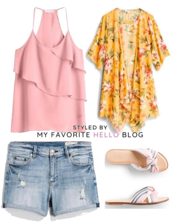 stitch fix summer outfit with shorts