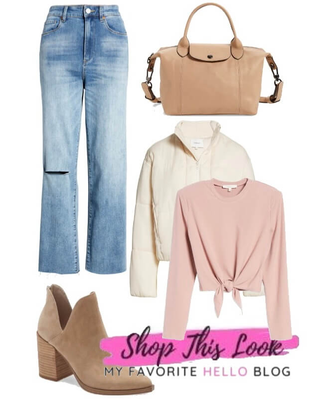Casual outfit with Jeans and tan boots