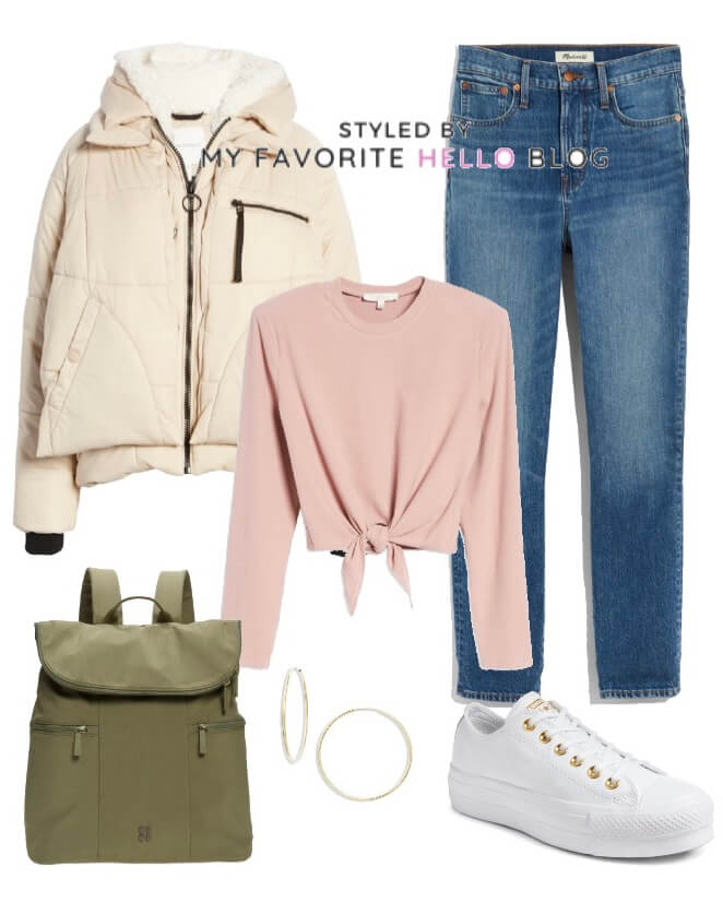 Fall Outfit with Puffer Jacket