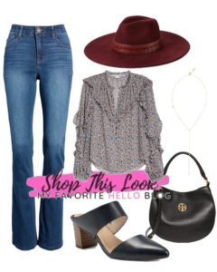 Fall outfit with Felt Hat
