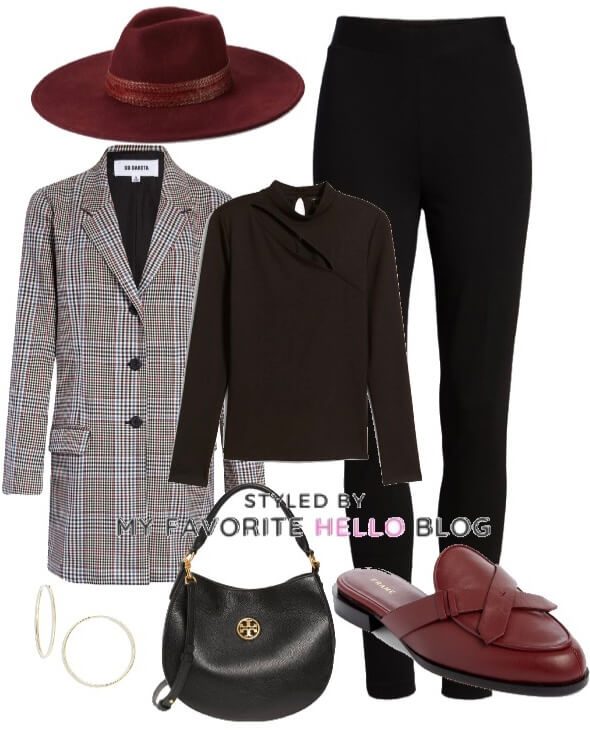 Fall work outfit with blazer