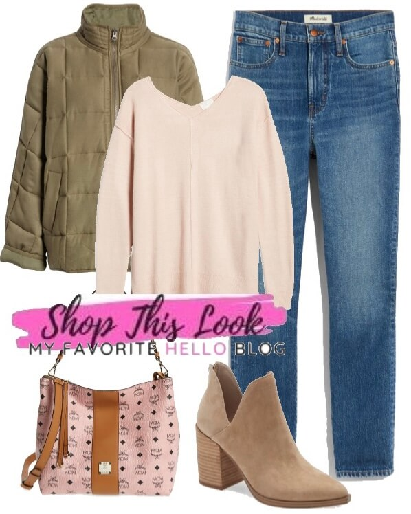Jeans and boots fall outfit