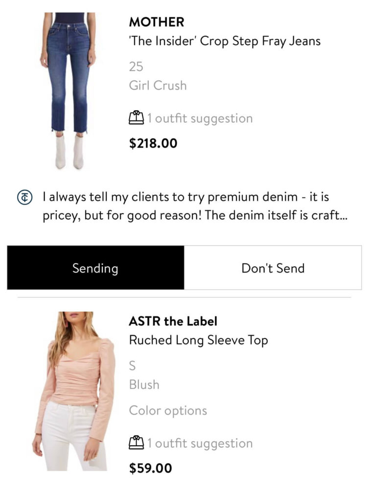 Trunk Club jeans and top