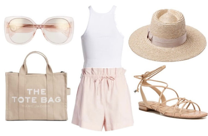 what to wear with pink shorts