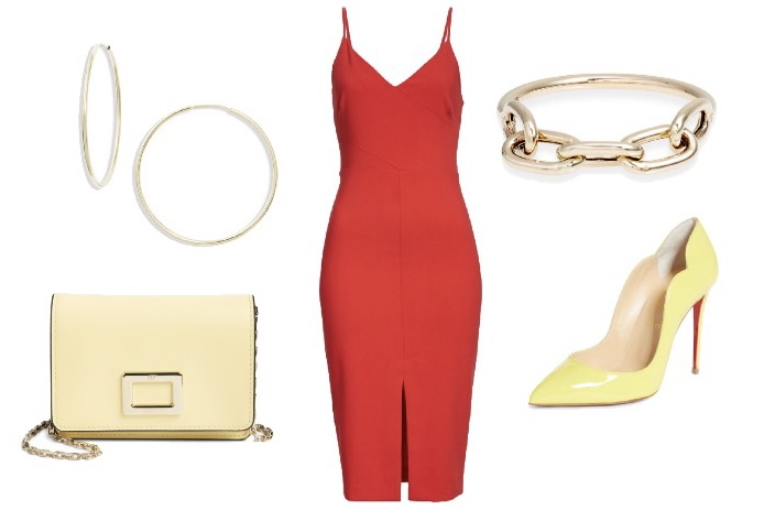 what color shoes to wear with a red dress