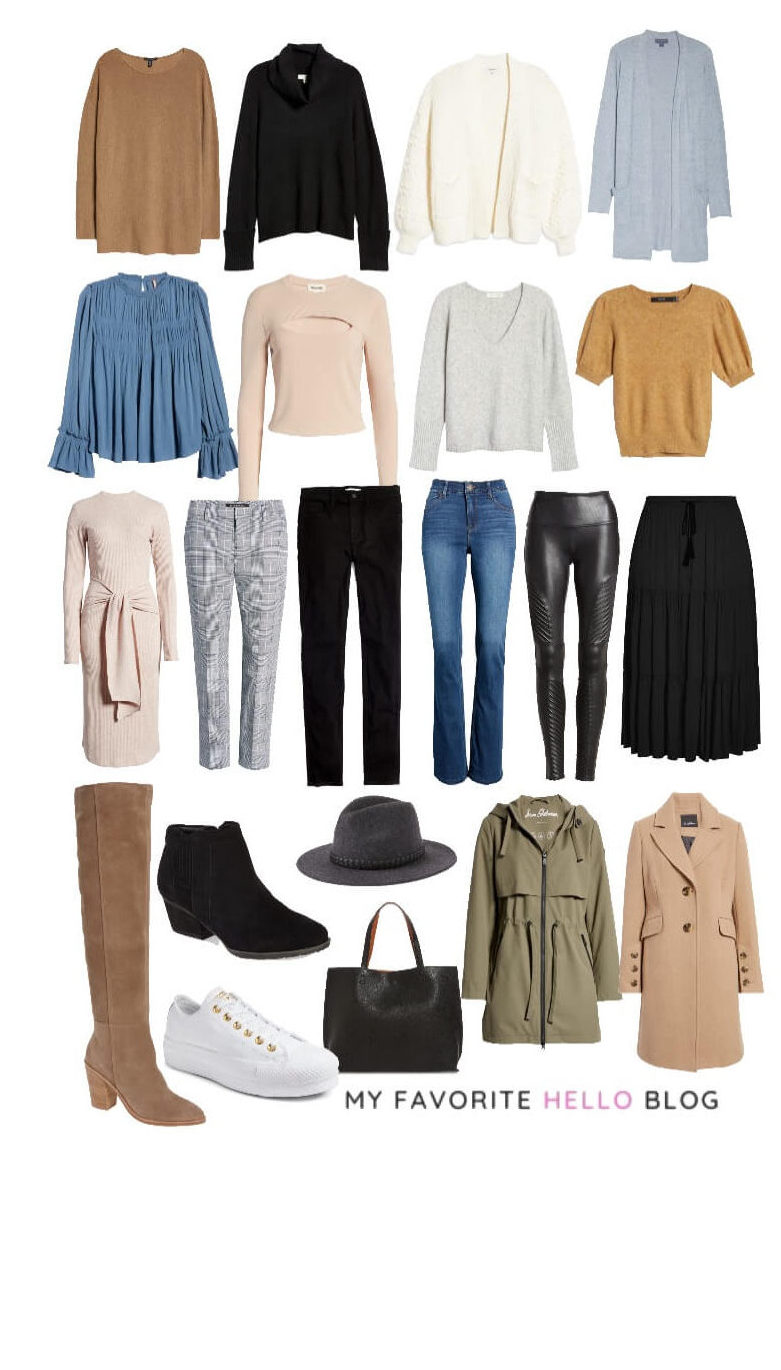how to put together a winter capsule wardrobe